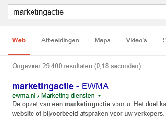 marketingactie-op-1-in-google